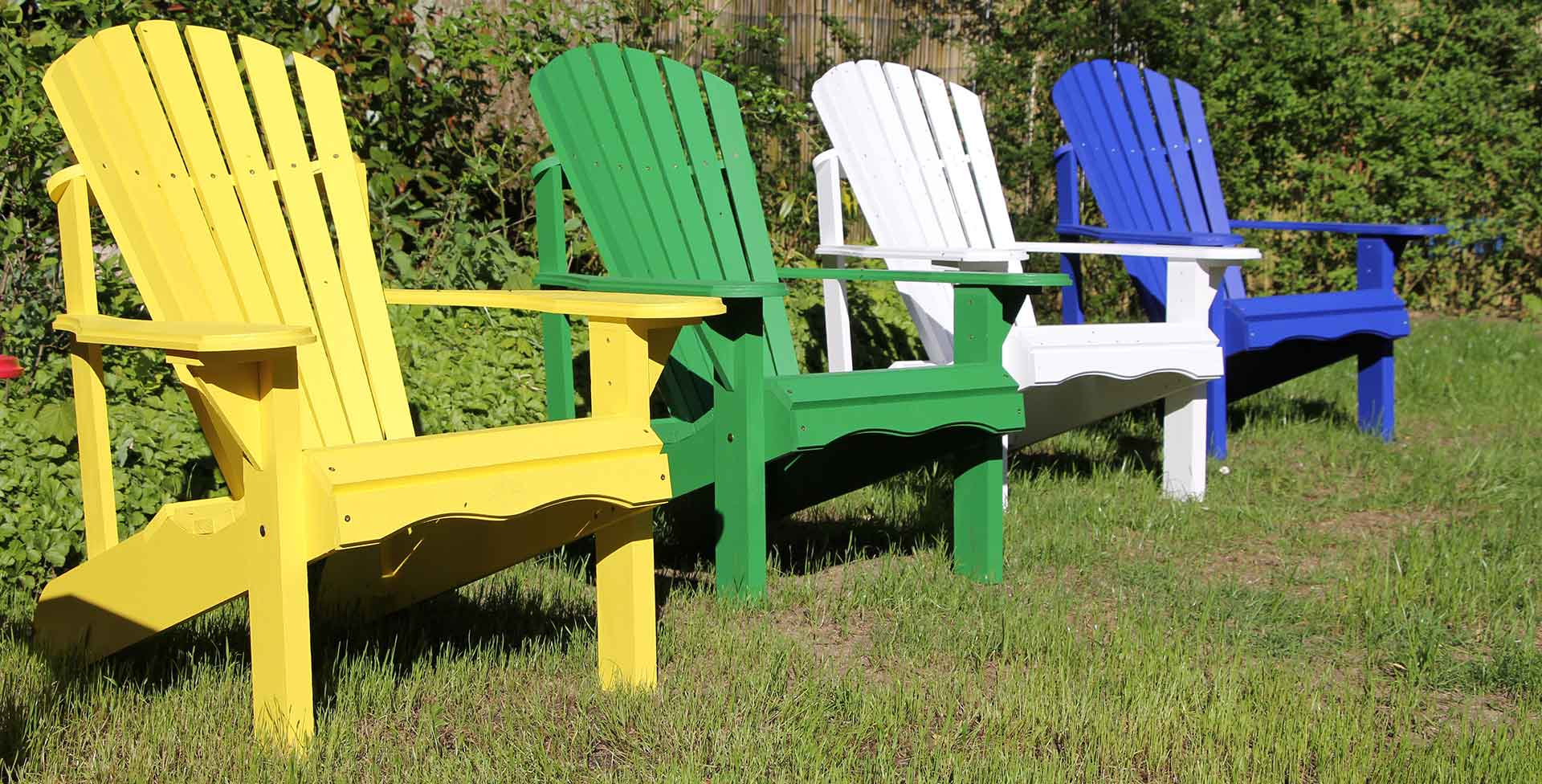 "Muskoka Chair, Adirondack Chair, Gartenstühle ""Made in Kanada"""